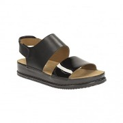 Clarks Women's Alderlake Sun Black Leather Fashion Sandals - 7 UK/India (41 EU)