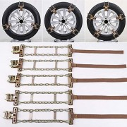 ELECTROPRIME 1pc Car Truck SUV Snow Ice Mud Chain Anti-Skid Metal Tyre Tire Chain 165-195mm