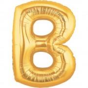 Balon folie mare litera B auriu - 86cm, Northstar Balloons 00249