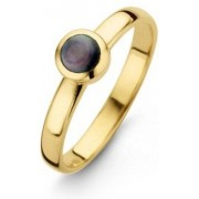Casa Jewelry Ring Pom Grey - Goud Verguld - Maat 16.50