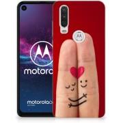 Motorola One Action Silicone Back Cover Liefde