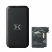 QI cargador inalambrico USB estandar + modulo receptor para Samsung Galaxy Note 3 - negro
