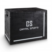 "Capital Sports Shineater, черна, Plyo Box с три нива на височината 20"" 24"" 30"" (FIT20-Shineater)"