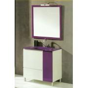 Movel Cádiz 80cm WC casa banho com espelho (artigo disponível apenas em preto)