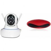 Zemini Wifi CCTV Camera and Rugby Bluetooth Speaker for SAMSUNG GALAXY S 5 SPORT(Wifi CCTV Camera with night vision |Rugby Bluetooth Speaker)