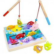 Fish Games, Wooden Wonders Dexterity Game Counting Matching Magnetic Fishing Game