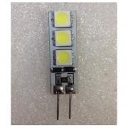 Bec LED 1W 6LED SMD Bulb 12V G4 Alb Rece