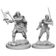 Set Figurine Dungeons And Dragons Nolzur's Unpainted Human Female Barbarian