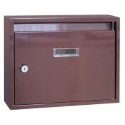 Schránka poštová paneláková hnedá Skveler 32x24x6cm