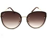 PREVIO Cat-eye Sunglasses(Brown)