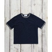 ROYAL PALM/RP スラブリンガーTシャツ S/S【ナノ・ユニバース/nano・universe メンズ Tシャツ・カットソー ネイビー ルミネ LUMINE】