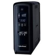 CyberPower GreenPower PFC Sinewave UPS 1300VA/780W - SCHUKO, USB, RS-232, LCD kijelző, line-interaktív