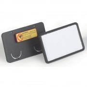 DURABLE CLIP CARD mit Magnet HxB 40 x 75 mm schwarz, VE 25 Stk
