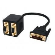 Valueline Splitterkabel DVI-I naar 2x VGA M/F