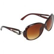 Zyaden Brown Oval sunglasses for women 431