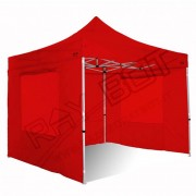 ray bot Gazebo pieghevole 4x4 rosso Exa 55mm alluminio con finestre PVC 350g