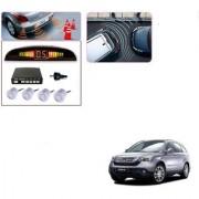 Auto Addict Car Silver Reverse Parking Sensor With LED Display For Honda CR-V