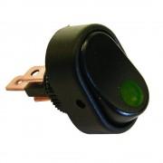 Intrerupator auto Carpoint 12V 30A cu led Verde , 31,20 x 20,00 mm