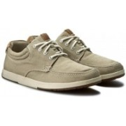 Clarks Norwin Vibe Taupe Canvas Shoes For Men(Grey)