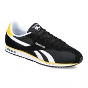 Reebok Classics Men's Royal Alperez Dash Black, White and Retro Yellow Leather Sneakers - 10 UK/India (44.5 EU)(11 US)