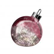 Ornament decorative light, dark red 20 cm diameter