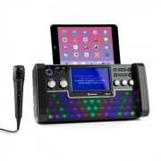 "Auna DiscoFever Bluetooth equipo de karaoke LED pantalla 7"" CD USB negro (KS1-DiscofeverLED BK)"