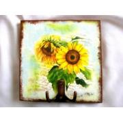 Cuier din lemn - floare soarelui - 25420