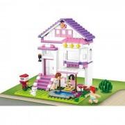 Girl's Dream nyaraló ház 291 darabos építőkészlet 2 figurával