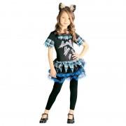 Merkloos Weerwolf verkleedkostuum voor meisjes weerwolvenpak