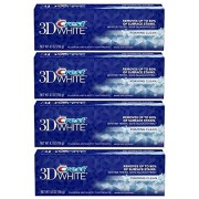 Crest 3D White Foaming Clean Whitening Toothpaste 4.10 oz (Pack of 4)
