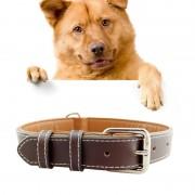 Lederen Pet Dog Collar huisdier producten grote hond kraag maat: L 2 5 * 51cm(Coffee)