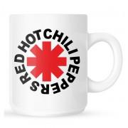 Red Hot Chili Peppers Bögre - Original Logo Astrisk - fehér - RTRHCMUWORI