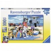 RAVENSBURGER puzzle (slagalice) - Psi na plazi RA10526
