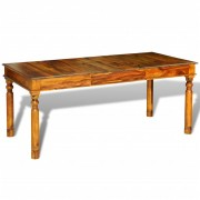 vidaXL Eettafel 180x85x76 cm massief sheesham hout