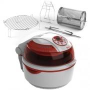 Sirge Friggitrice ad Aria Digitale Automatica Turbo Forno Multifunzione Ventilato cottura senza olio e grassi Max 1400 Watt: Cottura