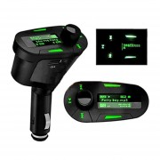 EH Bluetooth Car MP3 Coche Bluetooth Reproductor De MP3 FM Transmisor Modulador-Verde