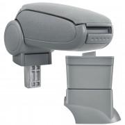 Подлакътник [pro.tec]® Fiat 500 с контейнер за съхранение, Текстил/Сив