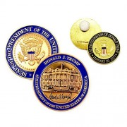 Trump Coin - US President (45th) Donald J. Trump, White House POTUS Signed Challenge Coin 3D