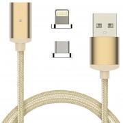Louiwill Supoia? Metal Magnético Type-C Micro USB C 3.1Data Snyc Cable Cargador Para Teléfono Android