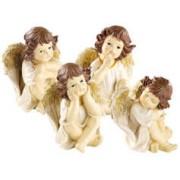 Infactory 4 anges de Noël décoratifs - 20 cm
