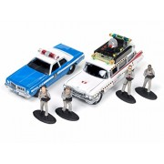 Johnny Lightning 1/64 Diorama Ghostbusters ECTO 1A Dodge Monaco with Figures JLCP7041