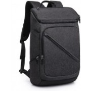 MOCA 15.6 inch Expandable Trolley Laptop Backpack(Black)