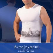 Svenjoyment Skyline Muscle Top T Shirt White 2160048