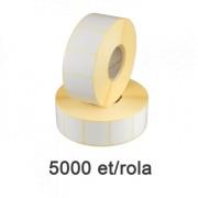 Самозалепващи термоетикети 30x20mm 5000 ет. /ролка