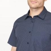 Bedrukt regular hemd in zuiver katoen
