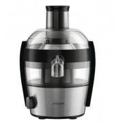 Сокоизстисквачка Philips Viva Compact, 500W, Съд за сок 0.5 л, Черна/Инокс