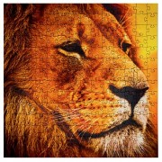 Mosaic Puzzles Wooden Jigsaw Puzzle Lion on The African Savannah 203 Unique Pieces Challenge Any Puzzle Lover from Ages 8 to 98 Made in The USA by Zen Art & Design