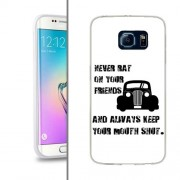 Husa Samsung Galaxy S6 Edge G925 Silicon Gel Tpu Model Never Rat On Your Friends B&W