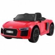 Masinuta electrica cu roti din cauciuc si scaun de piele Audi R8 Spyder Red