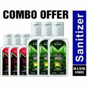 Mistpoffer Instant Pure Hands Hand Sanitizer Value Pack Fresh Impact 60 ml Fresh N Safe 30 ml Pack of 6